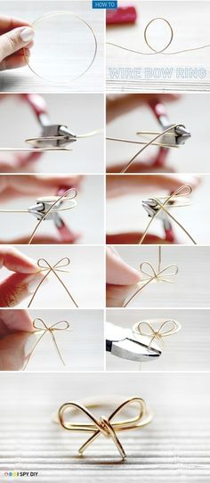 DIY bow ring this is so cute omg