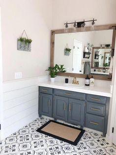 Our Master Bathroom Makeover Reveal! – Living with Lady Our Master Bathroom Makeover Reveal! – Living with Lady Bad Inspiration, Bathroom Inspiration, Bathroom Ideas, Bathroom Organization, Budget Bathroom, Bathroom Designs, Bathroom Mirrors, Simple Bathroom, Bathroom Beadboard