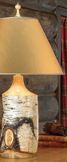 Birch Table Lamp #rustic