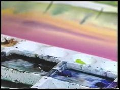 "Scheewe Art Workshop - 107 - ""Water Reflection Landscape"" Watercolor Painting - YouTube"