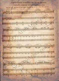 Farinelli - Arno Argos Raunig - Sopranist, Countertenor, Male-Soprano, the Opera Singer Opera Singers, Sheet Music, London, Piano Sheet, Erlangen, Singing, Archive, Learning, Music Score