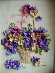 Ribbon Embroidery - Gallery.ru / Фото #13 - Моя вышивка лентами - midnight-rose