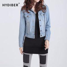 Neue ankunft frühling winter kurze jeansjacken vintage mantel lässig herbst jeansjacke für frauen jeans plus größe 4xl z6