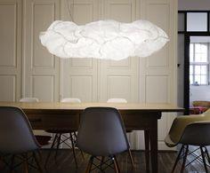 Cloud Belux, design Frank Gehry. Famiglia di lampade la cui forma suggestiva e scultorea ricorda la nuvola. Adatta anche a lampadine a basso consumo. Vedi tutta la collezione