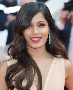 Best Beauty Moments from the 2014 Cannes Film Festival - Freida Pinto from #InStyle