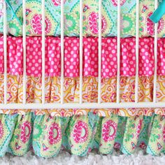 Lily Pad Bumperless Crib Bedding