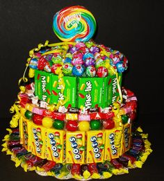 Candy Cake. I do make these as well as the candy bouquets