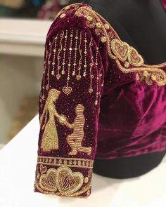 Stunning Latest Maggam Work Blouse designs 2020 for bridal kanjeevaram silk sarees, wedding blouses, pattu saree blouse designs 2020 Blouse Back Neck Designs, Hand Work Blouse Design, Stylish Blouse Design, Fancy Blouse Designs, Aari Work Blouse, Wedding Saree Blouse Designs, Pattu Saree Blouse Designs, Wedding Sarees, Latest Maggam Work Blouses