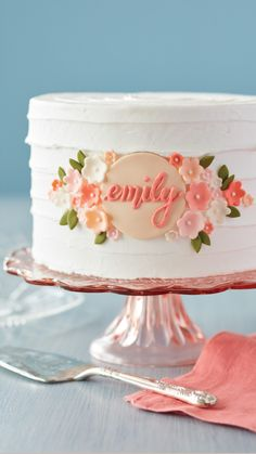 Birthday Cake Decorating, Cake Decorating Tools, Cake Decorating Techniques, Birthday Cake Toppers, Cookie Decorating, Cake Birthday, Fondant Birthday Cakes, Decorating Ideas, Flower Birthday Cakes