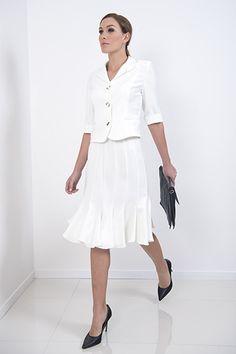 Flossy Skirt – The Flossy skirt is a very flattering multi gored microfiber skirt matching the cream Milano used in previous seasons  piadupradalonline