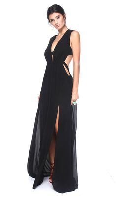 Hire black floor length dresses from BCBG Max Azria for your black tie  gala, destination wedding guest or for a day at the races! Rent your dream  blac.