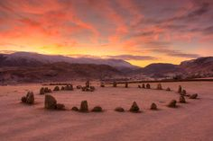 Beautiful Photo of Castlerigg Stone Circle near Keswick, Cumbria, England. There are 38 stones in a circle approximately 98 ft. in diameter. Within the ring is a rectangle of a further 10 standing stones.  It was probably built around 3000 BCE – the beginning of the later Neolithic Period – and is one of the earliest stone circles in Britain.       castlerigg stone circle | Rich Gale › Portfolio › Castle Rigg Stone Circle