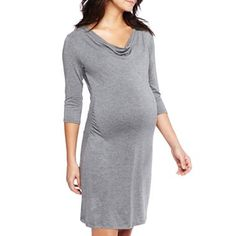 ff9a787ec4ce5 Maternity Striped Side-Ruched Dress - jcpenney | Maternity .