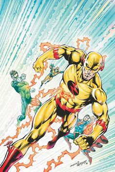 Justice League by Dan Jurgens with Reverse Flash Zoom