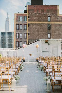 New York City loft wedding on rooftop Loft Wedding, Rooftop Wedding, Chic Wedding, Wedding Trends, Wedding Styles, Wedding Ceremony, Wedding Venues, Wedding Photos, Wedding Ideas