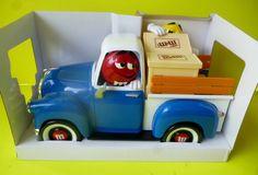 M M´S M M M M's Candy Dispenser Sweet Wheelin' Blue Pickup Truck Red's Garage   eBay
