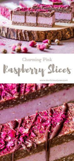 Charming Pink Raspberry Slices | Deviliciously Raw #raw #vegan