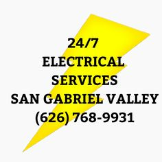 24-Hour San Gabriel Electrician (626) 768-9931