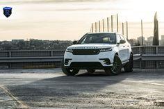 White Range Rover Velar Rocking Gloss Black Rohana Wheels