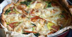 tarte-epinard-cumin-curry-munster-feuille-de-choux Munster, Mets, C'est Bon, Quiche, Breakfast, Inspiration, Food, Spinach Pie, Salty Tart