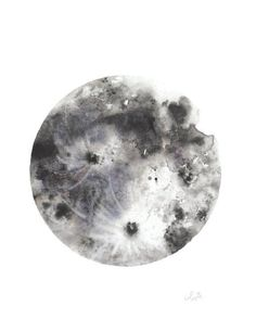 A print of my original watercolor piece of the beautiful and glorious Moon printed on 100# HQ matte poster paperOR you have the option to print on Fine Art Tex