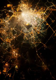 infinity-imagined:  City lights photographed from the International Space Station and Neurons imaged with fluorescence microscopy. Source images; Cities (1) (2) (3) (4) (5), Neurons (1) (2) (3) (4) (5)