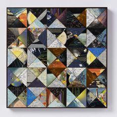 "Saatchi Art Artist Amelia Coward; Collage, ""Patchwork space"" #art"