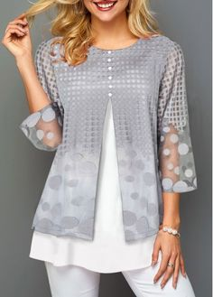 Stylish Tops For Girls, Trendy Tops, Trendy Fashion Tops, Trendy Tops For Women Trendy Tops, Casual Tops, Casual Sweaters, Blouse Styles, Blouse Designs, Turquoise Shirt, Cheap Womens Tops, Latest Fashion For Women, Dress Patterns
