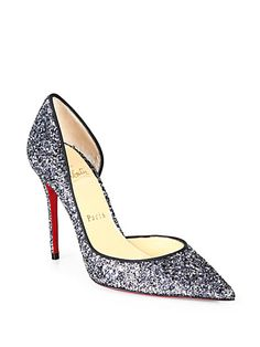 aa932386d Iriza Glitter d Orsay Pumps by Christian Louboutin Christian Louboutin  Outlet