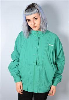 Adidas Womens Vintage Tracksuit Top Jacket Medium Mint 90's