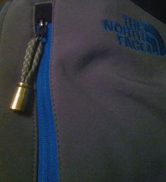 Para cord zipper pull using .380 auto shell casing.