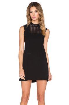 BCBGeneration Cut Out Back Dress in Black