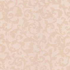 Fabric Effect Scroll Wallpaper - Beige at Homebase -- Be inspired and make your house a home. Buy now.