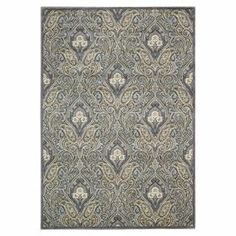 Characterized by an ornate ogee-inspired motif, this stately rug infuses your home with the regal air of a country manor house.   Product: RugConstruction Material: Acrylic and polypropyleneColor: GreyFeatures: Machine-woven Note: Please be aware that actual colors may vary from those shown on your screen. Accent rugs may also not show the entire pattern that the corresponding area rugs have.Cleaning and Care: Professional cleaning recommended