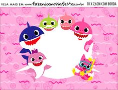 Plaquinha de Comida Festa Baby Shark Rosa Birthday Board, Birthday Party Themes, 2nd Birthday, Shark Background, Shark Birthday Cakes, Shark Party, Baby Shark, Baby Shower Decorations, First Birthdays
