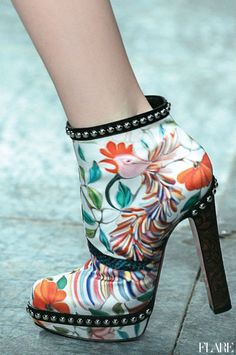 Mary Katrantzou spring 2012 #shoes #heels #boots #booties #katrantzou