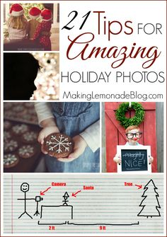 Tips for Amazing Holiday Photos-- 'tis the season for a million photo opps! Don't miss out; you'll want these ideas for getting the best holiday photos, from clever photo card ideas to how to take pictures of your tree to creative family photos and more, don't miss these great tips and tricks!
