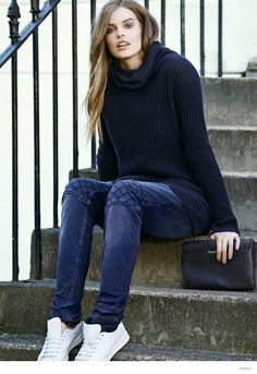 More Photos of Robyn Lawley for Mango Violetas Fall 2014 Catalogue
