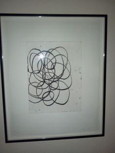 """Soft Ground Etching by Christopher Wool (1955- ). #22 of 45 in limited edition. Signed """"Wool 1998"""" in pencil lower right. Numbered 22/45 in pencil lower left. Copper plate 16"""" x 12"""", paper 25"""" x 20"""". Special edition done in 1998 to benefit the Museum of Contemporary Art, Los Angeles. Wool holds the record for highest price ever achieved at auction for a work by a living artist, $30 million. Floating frame selected by the artist.  List Price $8,000.        SALE PRICE $6,400."""