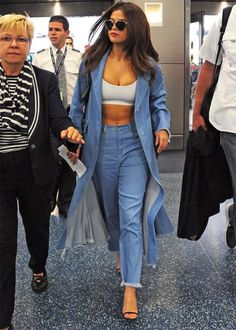 Selena Gomez denim on denim