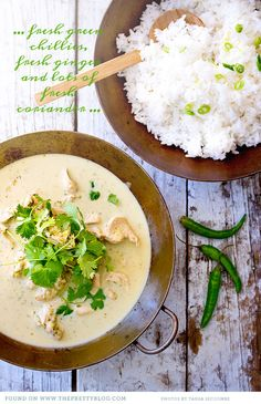 Curry de poulet Thai Green