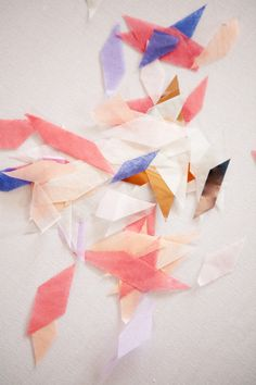 scraps of paper create a beautiful palette