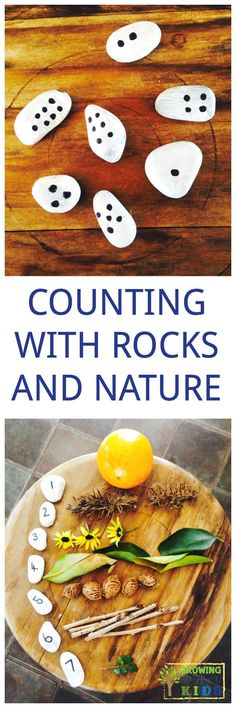A fun, hands-on way to count numbers with rocks.