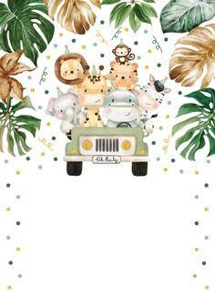 Jungle Theme Birthday, Baby Boy 1st Birthday Party, Animal Birthday, Baby Party, Safari Party, Safari Theme, Jungle Safari, Safari Animals, Baby Animals