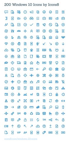 200 Windows 10 Icons by Icons8