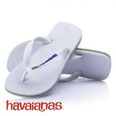 4bb470816079a Havaianas Brasil Logo Mens Flip Flops - White