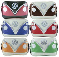 Retro Front Campervan Shoulder Bag - Official VW Bag - Includes Free Trinket Tray - Campervan Gift