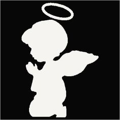 Angel in Prayer Decal 3 - Custom Wall Graphics