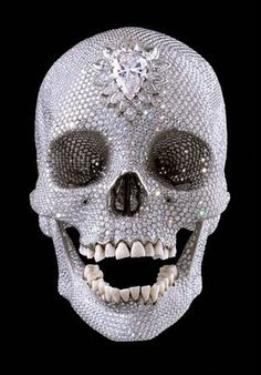 For the Love of God is a sculpture by artist Damien Hirst produced in 2007. It consists of a platinum cast of a human skull encrusted with 8,601 flawless diamonds, including a 52.4 carat pear-shaped pink diamond located in the forehead.