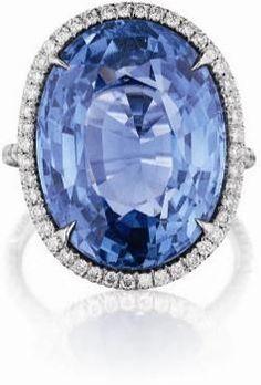 An Impressive Ceylon Sapphire and Diamond